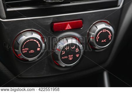 Novosibirsk, Russia - May 29, 2021: Subaru Forester, Conditioner And Air Flow Control In A Modern Ca