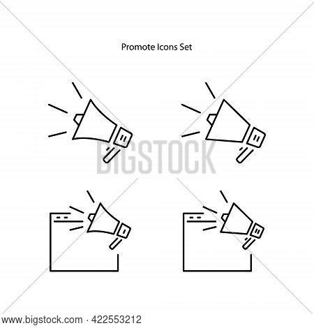 Promotion Icons Set Isolated On White Background. Promotion Icon Thin Line Outline Linear Promotion