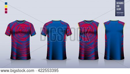 Soccer Jersey Or Football Kit Mockup Template Design For Sport Club. Football T-shirt Sport, Shorts