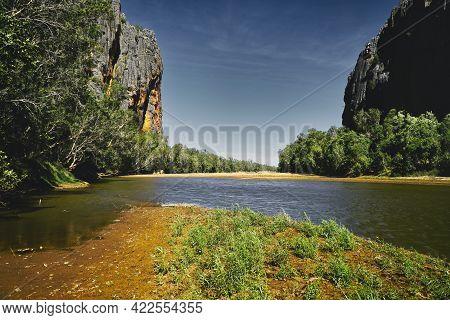 Windjana Gorge Is In The Kimberley Region Of Western Australia