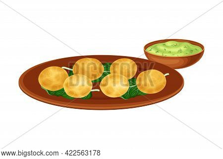 Kofta Or Meatballs With Sauce As Indian Dish And Main Course Served On Plate And Garnished With Herb