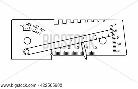 Ushs-3 Welder Template. Measuring Tool And Instrument For High-precision Measurements For Industry