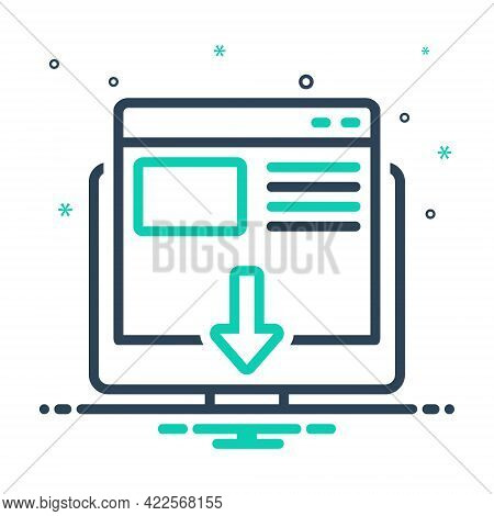 Mix Icon For Landing-page Landing Page Layout Website Optimization Interface Browser Technology Temp