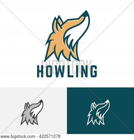 Howling Wolf Head Wild Animal Nature Wildlife Logo