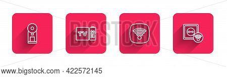 Set Line Smart Coffee Machine, Multimedia And Tv Box Receiver, Wi-fi Wireless Internet Network And E