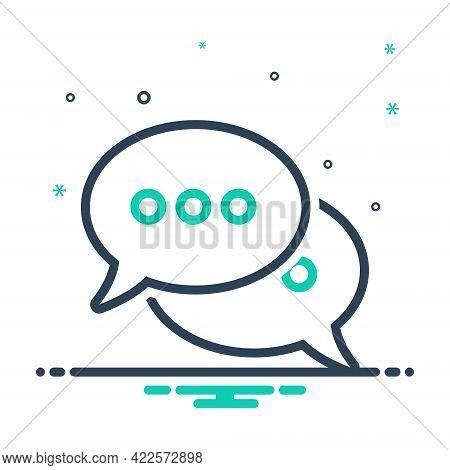 Mix Icon For Speech-bubbles Talk Speak Chat Gossip Communication Message Conversation Discuss