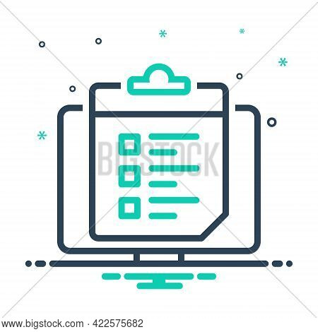 Mix Icon For Survey-list Survey List Feedback Opinion Poll Message Bubble Review Testimonial  Comput