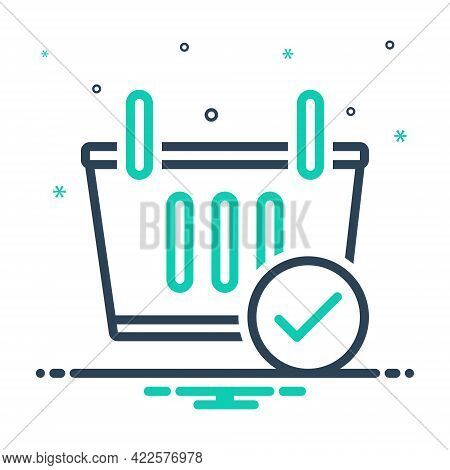Mix Icon For Checkout Shopping-basket Shopping Basket Cart Commerce Supermarket Trolley Grocery Obje