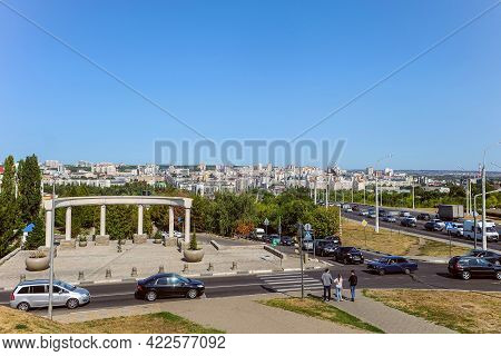 Belgorod, Russia - September 12 2020: View Of The City Center From The Intersection Of 5 August Stre