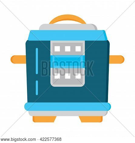 Multicooker Flat Icon Vector. Kitchen Small Appliances Sign.