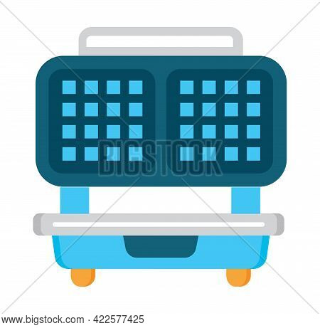 Waffle Maker Flat Icon Vector. Kitchen Small Appliance Sign.