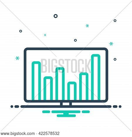 Mix Icon For Financial-data Financial Data Commercial Economic Monetary Pecuniary Graphic Statistic