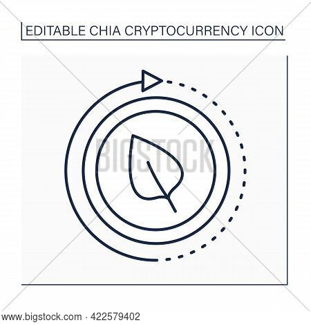 Install Chia Line Icon. Download Special Blockchain Software.syncing Account And Verifying Blocks.di