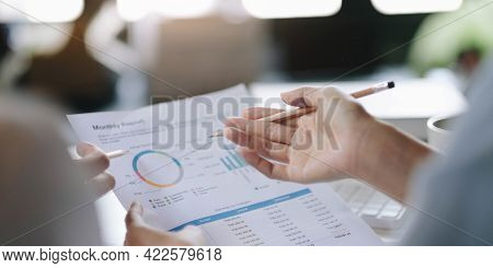 Business People Meeting Design Ideas Professional Investor Working New Start Up Project. Concept. Bu