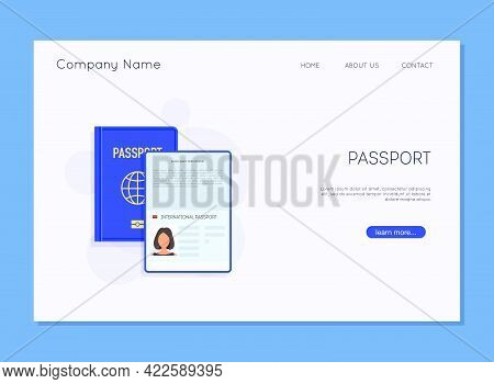 Passport Template. Identification Document. Document For Travel And Immigration.