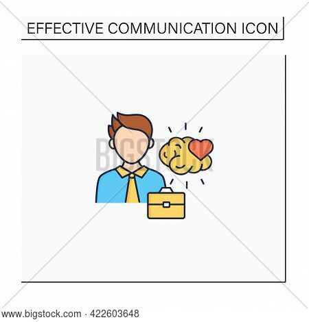 Emotional Intelligence Color Icon. Emotionally Aware. Perceive, Control, And Evaluate Emotions.stron