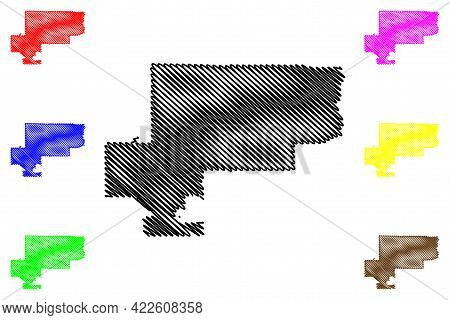 West Valley City, Utah (united States Cities, United States Of America, Usa City) Map Vector Illustr