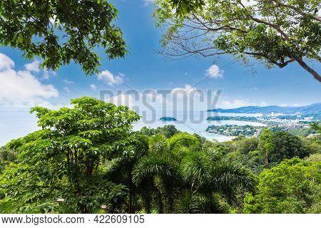 View Point Of Karon Beach, Kata Beach At Phuket Island, Thailand.