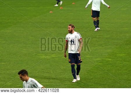 Kyiv, Ukraine - October 13, 2020: Sergio Ramos Of Spain National Team In Action During Training Sess