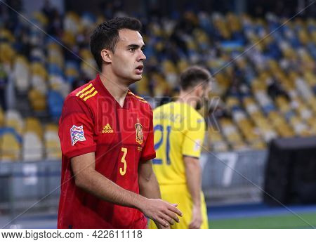 Kyiv, Ukraine - October 13, 2020: Sergio Reguilon Of Spain In Action During The Uefa Nations League