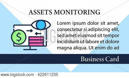 Assets Monitoring Business Card.monitoring Accounts Marketing Template.logs Information About Tangib
