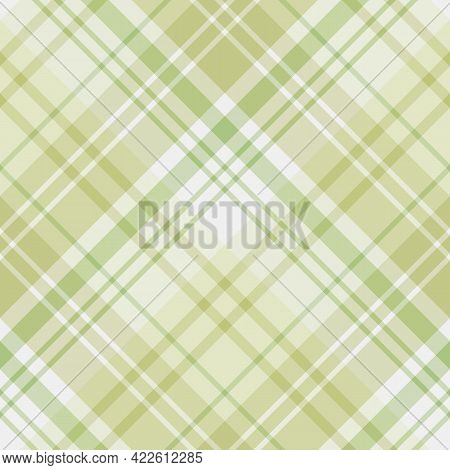 Seamless Pattern In Light Green Colors For Plaid, Fabric, Textile, Clothes, Tablecloth And Other Thi