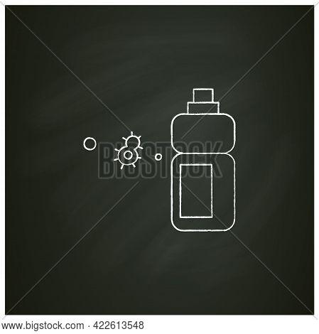 Sanitizer Bottle Chalk Icon.disinfectant Liquid Clean Label Mockup Bottle. Disinfection, Hygiene And