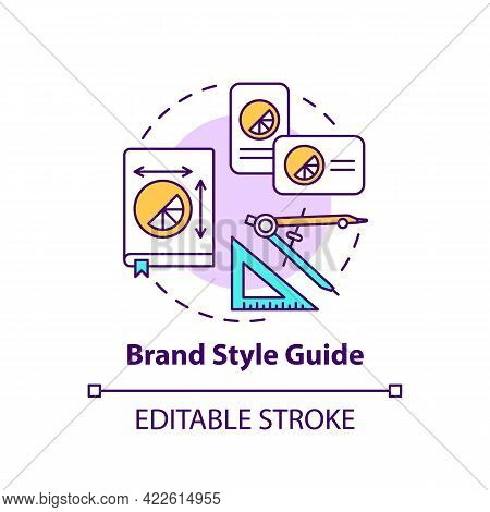 Brand Style Guide Concept Icon. Business Branding Service Abstract Idea Thin Line Illustration. Rule