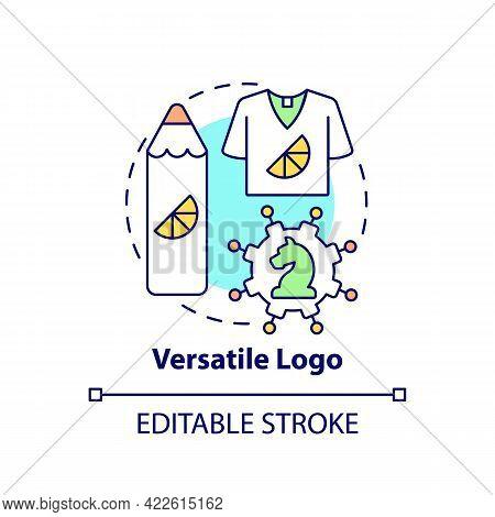 Versatile Logo Concept Icon. Logotype Design Abstract Idea Thin Line Illustration. Simple Design. In