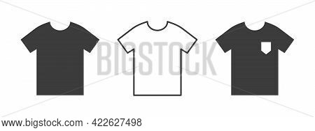 T-shirts Icon. Oversized T-shirt. Clothes Icons Modern Style. Vector Illustration