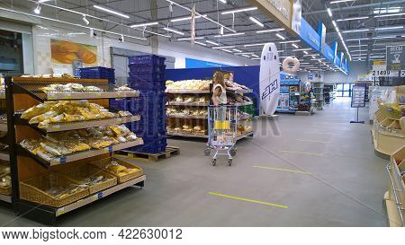 St. Petersburg, Russia - May 15, 2021: Top Russian Supermarket Is One Of Largest Players Of Retail I