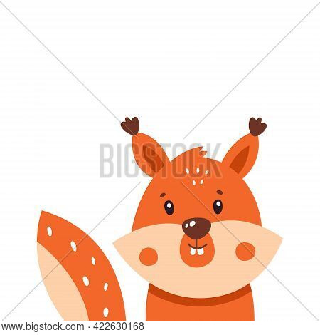 Squirrel Icon. Vector Illustration Isolated On White Background