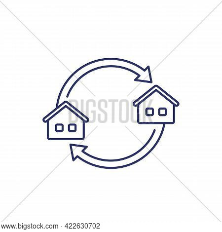 Removal, Moving In The New House Line Icon