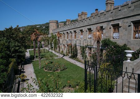 The Vorontsov Palace Is An Historic Palace Situated At The Foot Of The Crimean Mountains Near The To