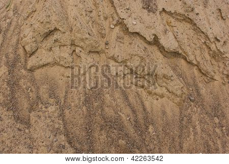 Weathered Texture Of Sand Pile Surface