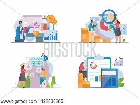 Big Data Concept. Analytics, Data Science, Financial Data Management, Artificial Intelligence, Risk