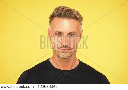 Male Portrait Concept. Perfect Skin Tone. I Am Just Man. Facial Care And Ageing. Attractive Mature M
