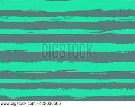 Trendy Watercolor Pattern With Colored Stripes Painted With A Brush.