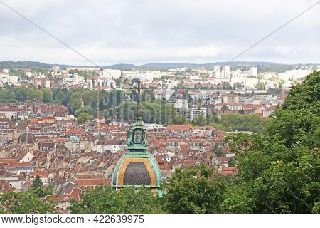 Besancon Town From The Citadel In France