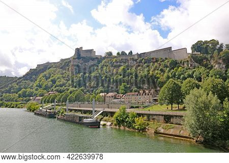 Besancon Citadel From The River Doubs In France