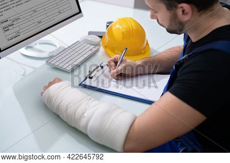 Worker Accident Insurance Disability Compensation And Social Benefits