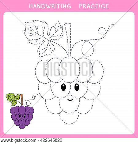 Handwriting Practice Worksheet. Simple Educational Game For Kids. Vector Illustration Of Cute Bunch