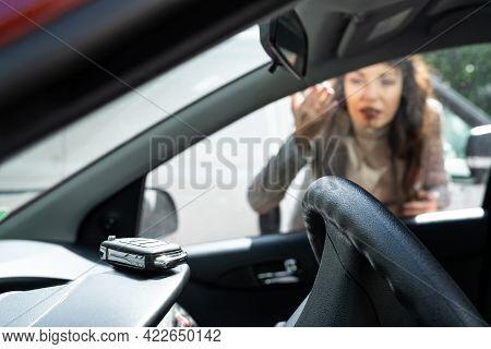 Woman Forgot Her Key Inside Locked Car