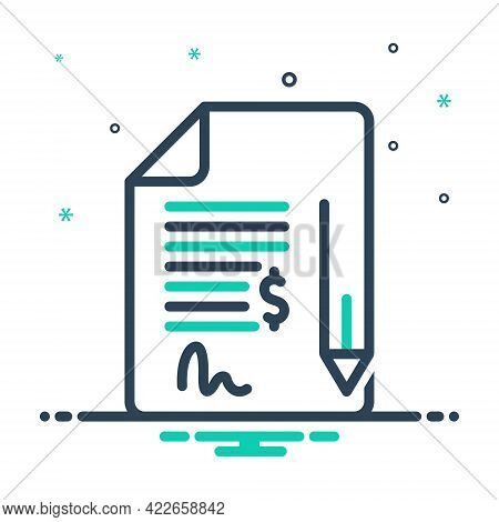 Mix Icon For Contract Bond Commitment Pledge Pleadings Justice Security Deed Legal-documents Agreeme