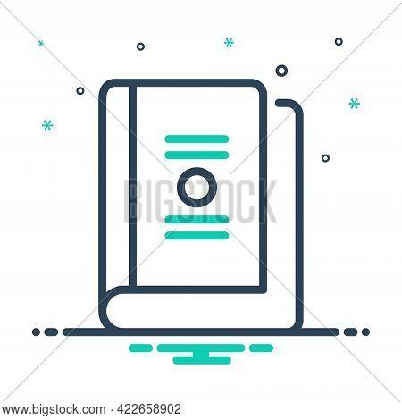 Mix Icon For Book Booklet Dictionary Publication Education Read Literature Encyclopedia Magazine Men