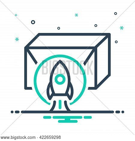 Mix Icon For Product-release Product Release Launch Startup Startup Spaceship Development