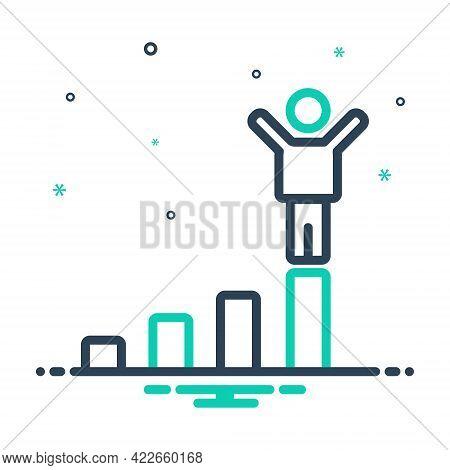 Mix Icon For Success Prosperity Triumph Winner  Triumphant Champion Victorious Conquer Vanquish