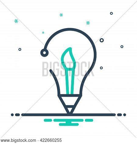 Mix Icon For Creative-idea Inventive Enterprising Visionary Prolific Concept Brush Idea