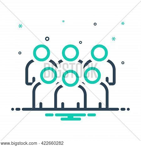 Mix Icon For Group Cluster Conglomeration Association Crowd Organization Troop