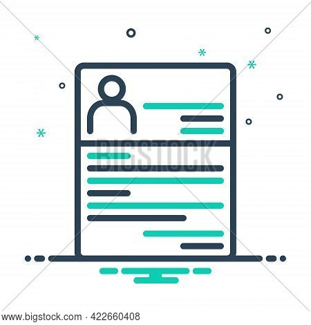 Mix Icon For Resume Summary Reoccupy Detail Expansion Elaboration Document Profile Recruitment